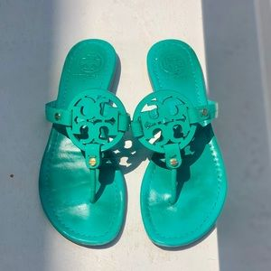 Tory Burch turquoise sandal size 8!